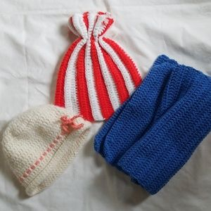 Accessories - Vintage Knitted Hats and Scarf
